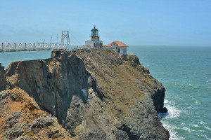 Point Bonita Lighthouse rocks