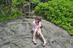 Elizabeth on a Rock