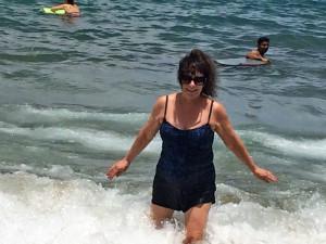 Running through waves