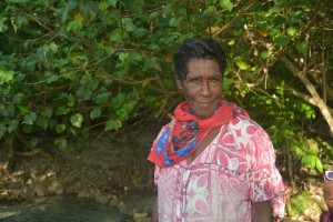 Beautiful woman at the river, Tanoliu, Efate Island